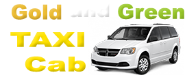 Gold & Green Taxi Cab and Car Service Logo